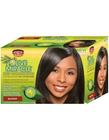African Pride Olive Relaxer Kit Super